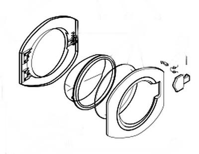 Люк для стиральной машины Ariston C00049420
